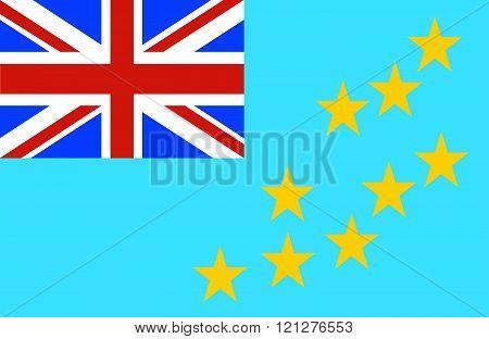 Tuvalu Flag.
