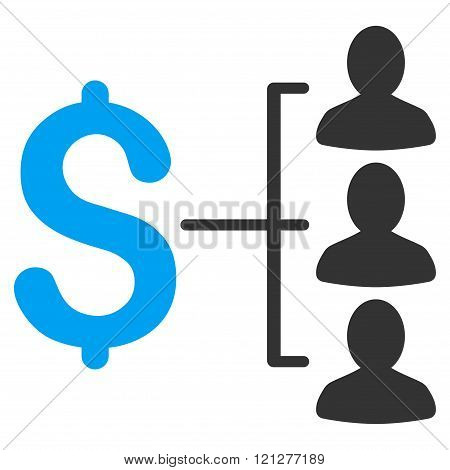 Money Recipients Flat Glyph Icon