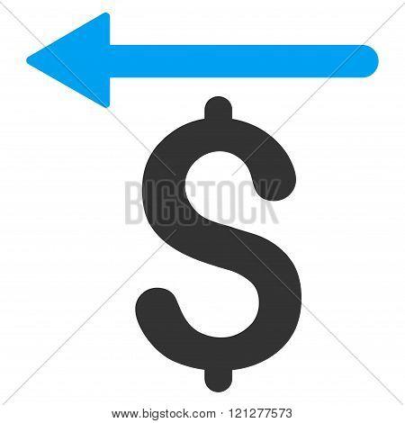 Moneyback Flat Glyph Icon