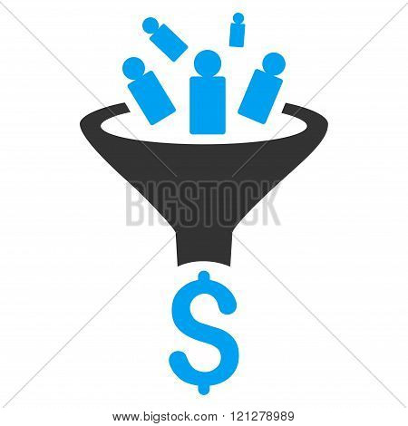 Sales Funnel Flat Glyph Icon