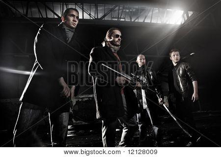 Membros de gangster