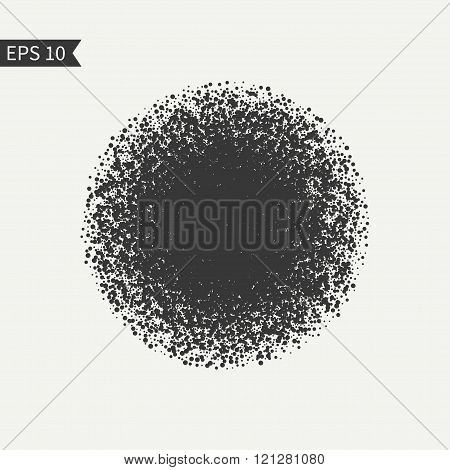Black and white design element. Burst glitter sparkles on white background. Bright confetti. Glitter