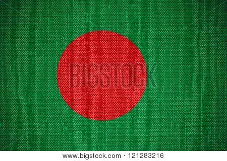 flag of Bangladesh or Bangladeshi banner on cnavas background