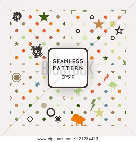 Set of vector seamless patterns with bones, skulls and stars. Emo-style.
