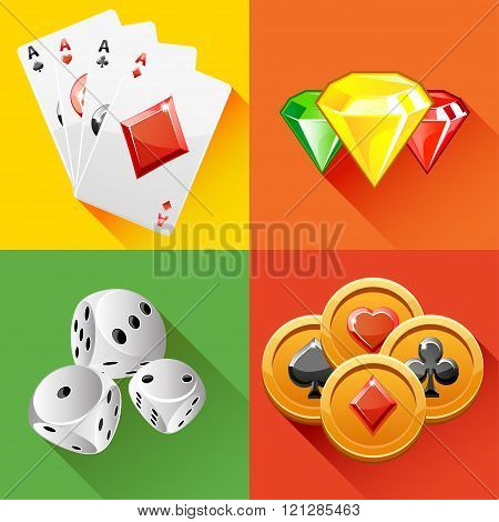 Poker Icon In Vector