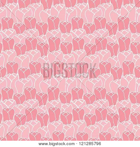 Floral pattern with tulips.