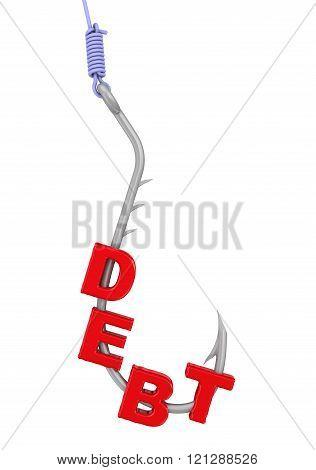 Dangerous debt. Concept