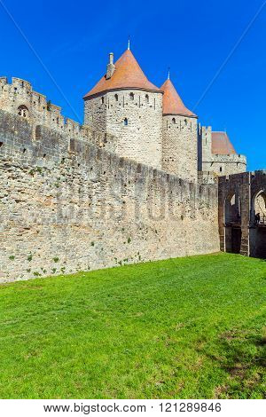Towers Of Medieval Castle, Carcassonne