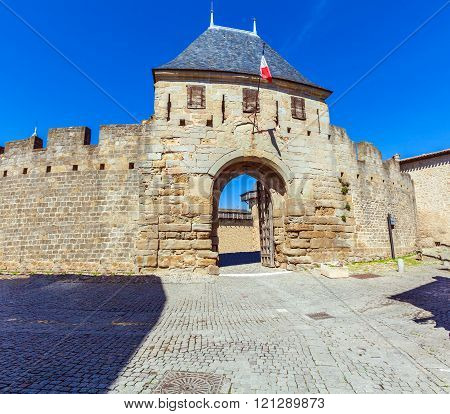 Main Entrance Gate In Carcassonne