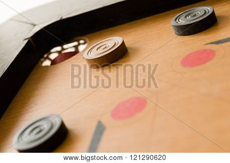A Game Of Carrom Close To Victory