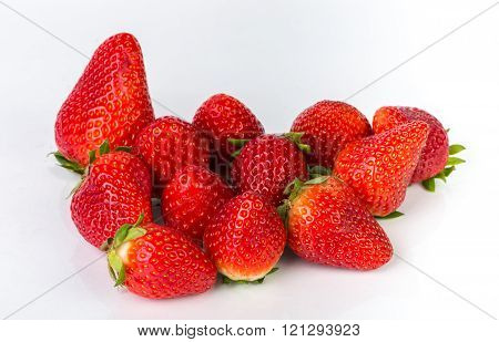 Fresh red berry strawberry isolated on white background
