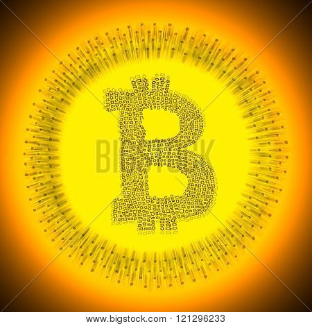 Digital gold Bitcoin cryptocurrency logo