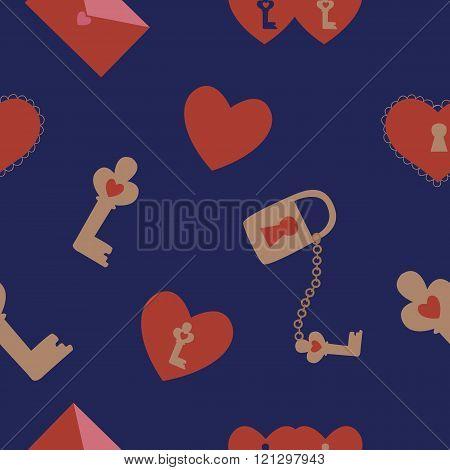 Cute  love seamless pattern
