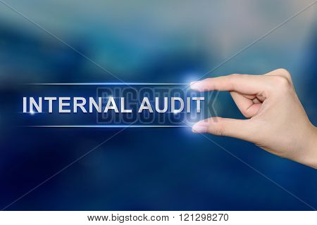 Hand Clicking Internal Audit Button