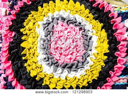 beautiful colorful doormat pattern background and texture