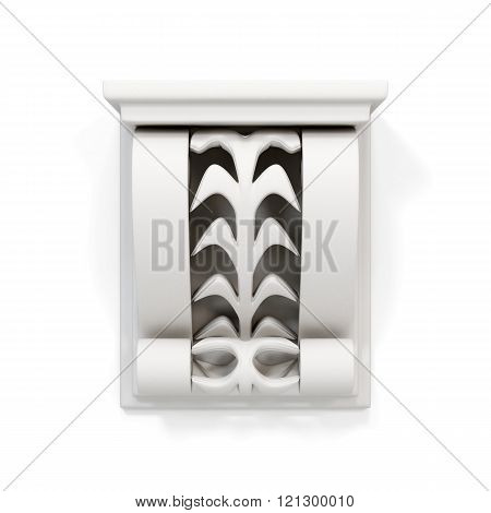 Decorative architectural bracket isolated on white background. 3