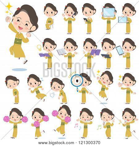Kimono Yellow Ocher Women