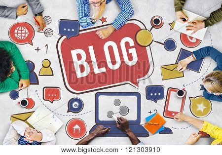Blog Blogging Social Network Online Internet Concept