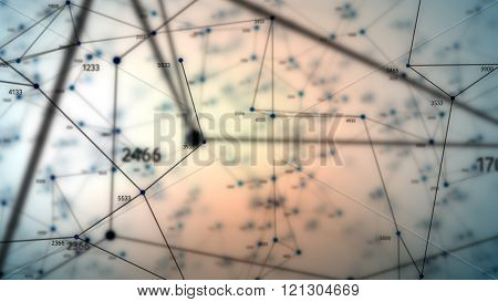 Abstract Geometric Composition With Depth Of Field