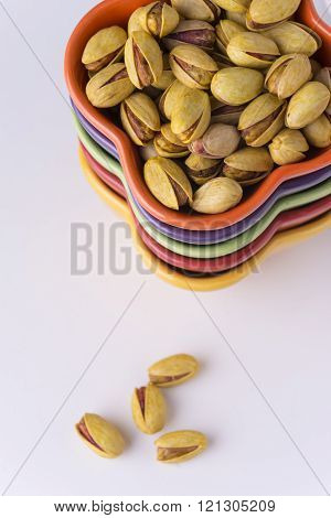 Pistachio Nuts  From Top View