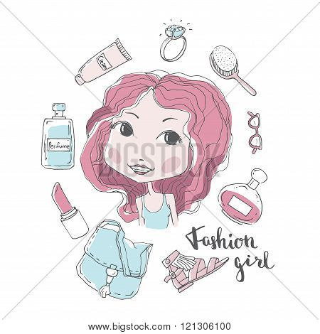 Stylish girl illustration
