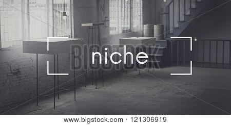 Niche Consumer Specialist Target Branding Area Concept
