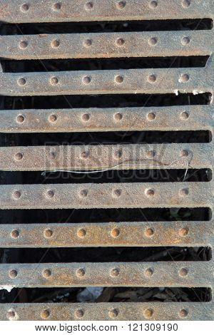 steel grille background