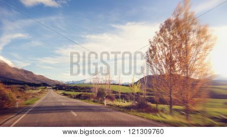 Way Tranquil Scence Roadway Destination Concept