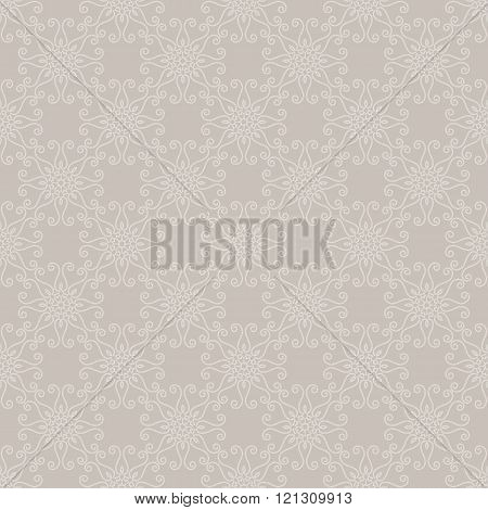 Seamless Geometric Pattern. Ornamental Texture. Vector Abstract Background.