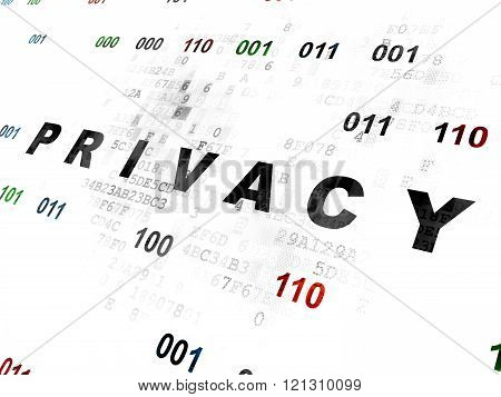 Privacy concept: Privacy on Digital background