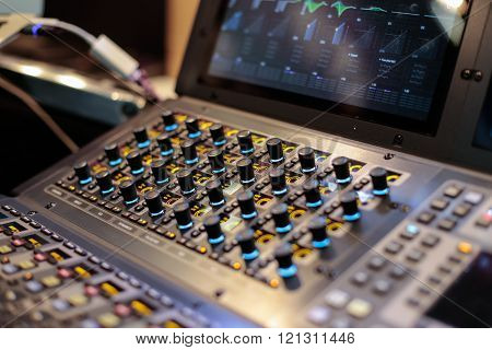 Blue Lighted Switchers Of The Stage Controller