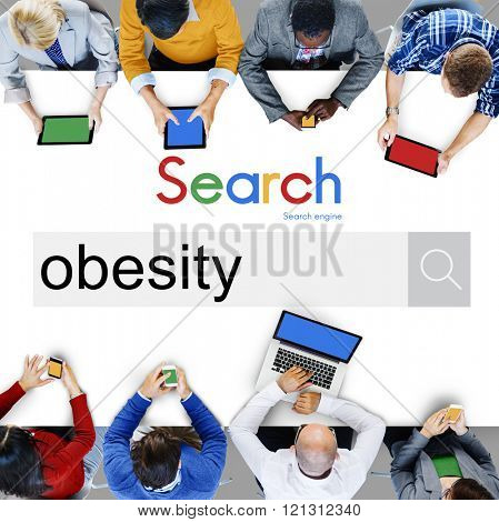 Obesity Diabetes Disorder Unhealthy Weight Loss Concept