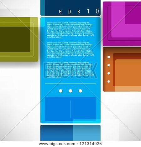 geometric shape rectangles flat layout material background design