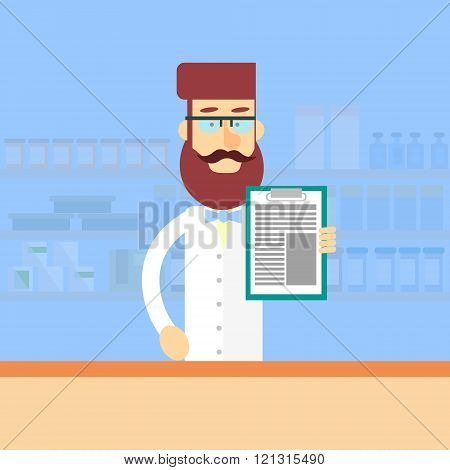Pharmacy Worker Drugstore Interior Male Pharmacist