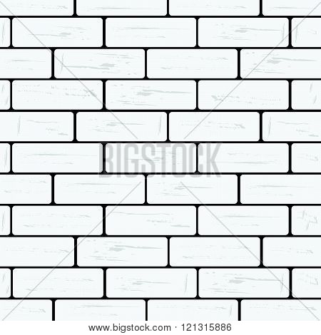 Brick Wall White Illustration