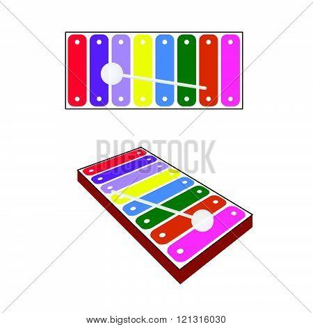 Xylophone Baby Toy Illustration