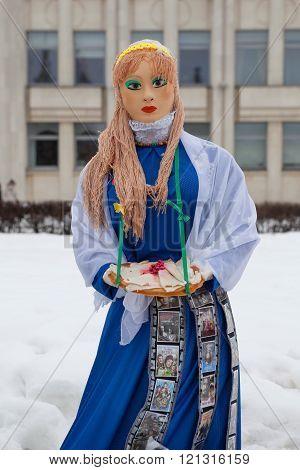 Pancake week doll