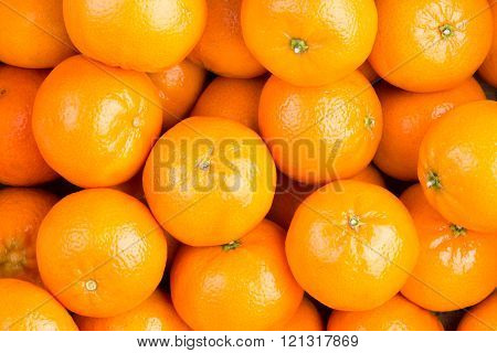 Food Background Of Healthy Ripe Clementines