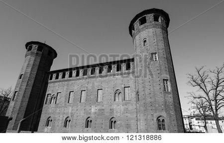 Palazzo Madama In Turin In Black_and_white