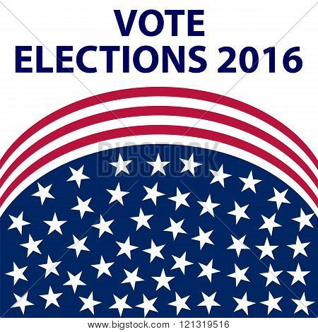 Us Election on white background vector illustration