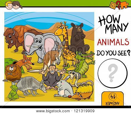 Count Animals Activity For Kids