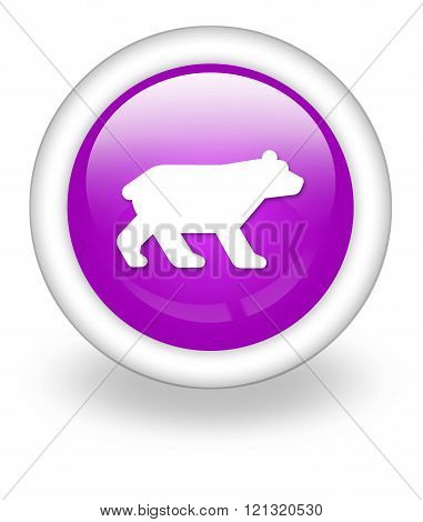 Image Picture Icon Button Pictogram with Bear symbol