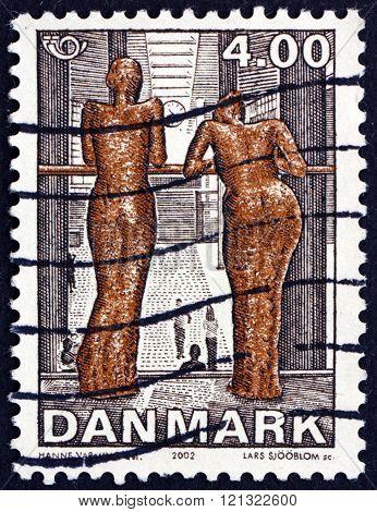 Postage Stamp Denmark 2002 Sculpture By Hanne Varming
