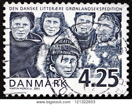 Postage Stamp Denmark 2003 Danish Literary Greenland Expedition