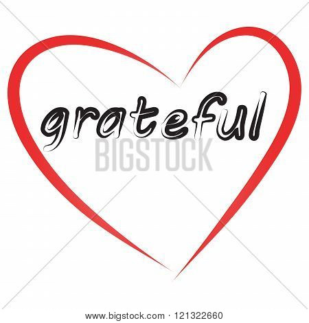 Grateful Vector Image