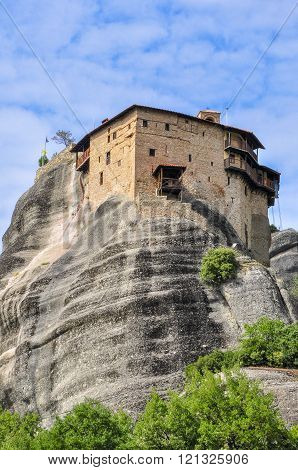 The monastery on the cliff in Meteora. Greece.