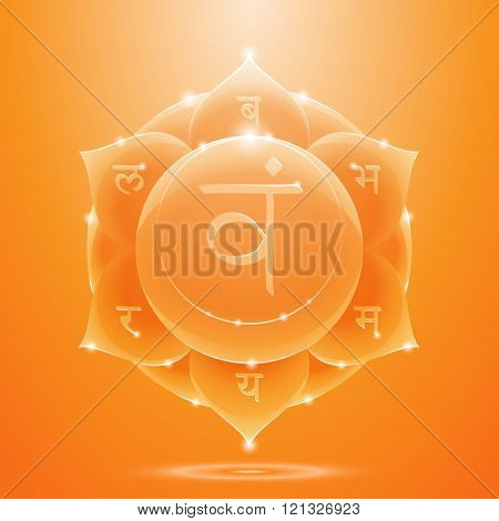 Orange glossy svadhisthana chakra banner