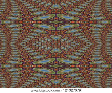 Seamless ellipses pattern orange purple