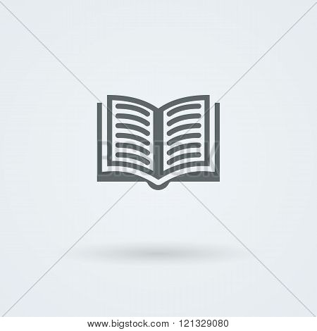 Simple vector open book icon.