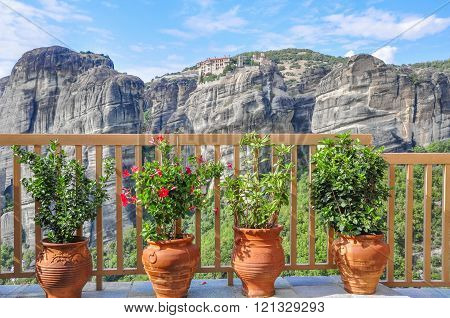 The fence of the balcony